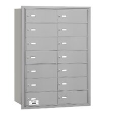 4B+ 14 Door Rear Loading Horizontal Mailbox for Private Access