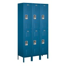 <strong>Salsbury Industries</strong> Unassembled Double Tier 3 Wide Extra Wide Standard Locker