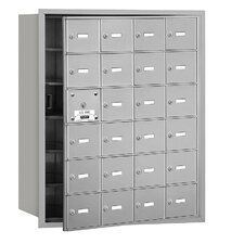 4B+ 24 Door Front Loading Horizontal Mailbox for USPS Access