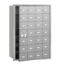 4B+ 28 Door Front Loading Horizontal Mailbox for USPS Access