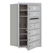 <strong>Salsbury Industries</strong> 7 Door High Unit Single Column Front Loading Horizontal 4C Mailbox for USPS Access