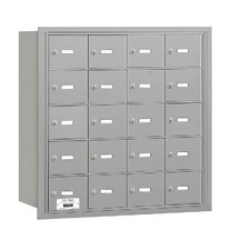 4B+ 20 Door Rear Loading Horizontal Mailbox for USPS Access