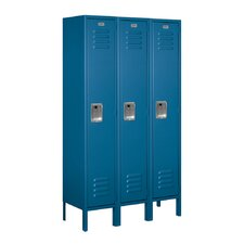 Unassembled Single Tier 3 Wide Standard Locker