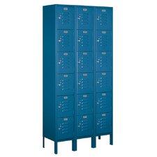 6 Tier 3 Wide Standard Box Locker