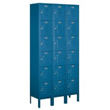 Assembled Six Tier Box 3 Wide Standard Locker