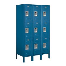 Unassembled Triple Tier 3 Wide Standard Locker