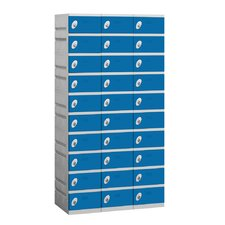 Unassembled Ten Tier 3 Wide Locker