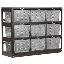1 Tier 3 Wide  Basket Locker