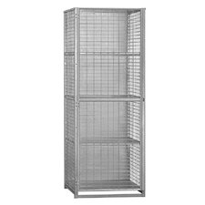 4 Tier 1 Wide Security Cage Storage Locker