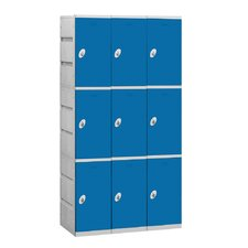 Unassembled Triple Tier 3 Wide Locker