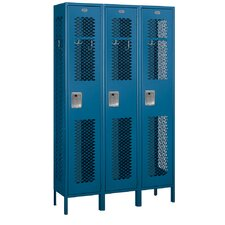 <strong>Salsbury Industries</strong> Assembled Extra Wide Vented Single Tier 3 Wide Locker