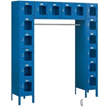 Assembled See-Through Six Tier Locker