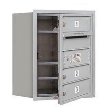 <strong>Salsbury Industries</strong> 5 Door High Unit Single Column Front Loading Horizontal 4C Mailbox for Private Access