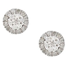 <strong>Designer Diamonds</strong> Round Cut Diamond Stud Earrings