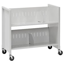2 Slant Shelf File Cart