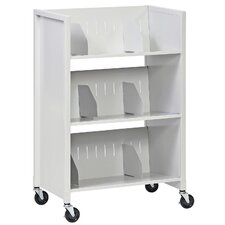 "38.75"" 3 Tier File Folder Medical Cart"