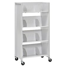 "50.38"" 4 Tier File Folder Medical Cart"
