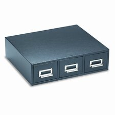 "<strong>Buddy Products</strong> 3"" x 5"" Triple Drawer Card File"