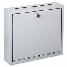 <strong>Buddy Products</strong> Wall-Mountable Interoffice Mail Collection Box, 12w x 3d x 10h, Platinum