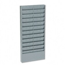 Adjustable 11- Or 22-Pocket Time Card Rack, Textured Steel, Gray
