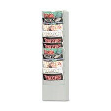 "<strong>Buddy Products</strong> Curved Pocket Rack, 11 Pockets, 9-3/4""x4-1/2""x36-3/8"", PM"