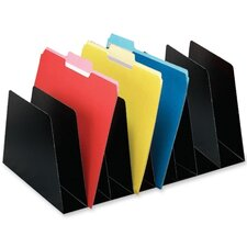 "<strong>Buddy Products</strong> Desktop Organizer,8 Sections,Vertical,16""x10""x6-3/4"",Black"