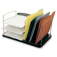 """Desk Combo Organizer,Vert./Horz. Pckts,6-1/4""""x11""""x8-1/4"""",BK"""