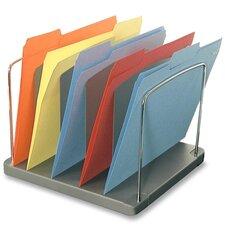 "Desk Tray,5-Pocket,Vertical,11-1/8""x10-5/8""x8-3/8"",Charcoal"