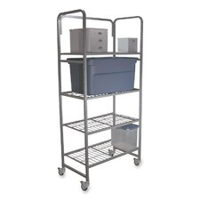 "<strong>Buddy Products</strong> Mobile Shelving, 300 lb Max Capacity, 35""x20""x75-3/4"", Silver"