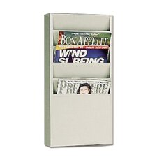 "<strong>Buddy Products</strong> 5 Pocket Literature Display Rack, 9-1/8""x3/4""x10-5/8"", Putty"