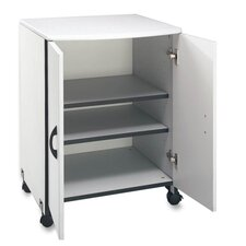 "<strong>Buddy Products</strong> Machine Stand,for  Printer/Copier,w/2-Doors, 23""x23""x31"", Gray"