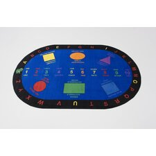 Bilingual Shapes Kids Rug
