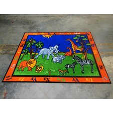 Safari Animals Kids Rug