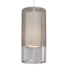 <strong>Tech Lighting</strong> Manchon 1 Light Monopoint Satin Nickel Pendant