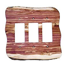 <strong>Sierra Lifestyles</strong> Rustic 3 Decora Unfinished Switch Plate