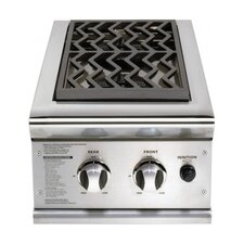 """30"""" Double Side Burner On-Cart for Gas Grill"""