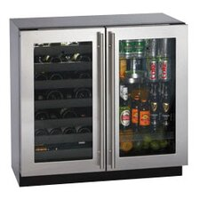 <strong>U-Line</strong> Wine Captain 31 Bottle / 3.6 Cu. Ft. Double Door Beverage Center