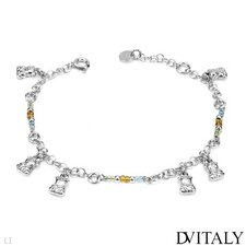 Dv Italy Glass Beads Charm Bracelet