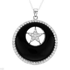 925 Sterling Silver Onyx Necklace
