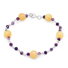 Beaded Amethysts Beaded Bracelet