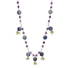 Sterling Silver Amethysts Necklace