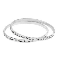 Universal Language Enamel Bangle Bracelet