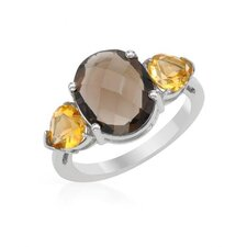 Sterling Silver Pear Topaz Ring