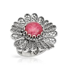 Sterling Silver Rhodonite Ring