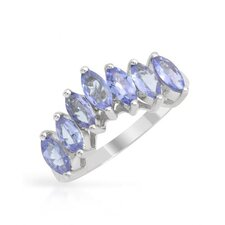 925 Sterling Silver Marquise Cut Tanzanite Ring