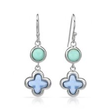 <strong>Vivid Gemz</strong> Chateau D'Argent 925 Sterling Silver Gemstone Drop Earring