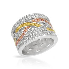 <strong>Vivid Gemz</strong> Lauren G. Adams 14K/925 Gold Plated Silver Ring