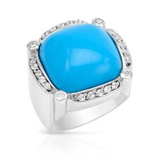 <strong>Vivid Gemz</strong> Lauren G. Adams 925 Sterling Silver R Cut Cubic Zirconia Ring