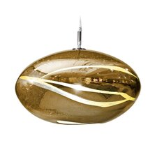 Vista Swirl Orbit 1 Light Globe Pendant