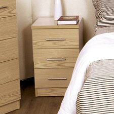 Manhattan 3 Drawer Bedside Table